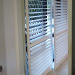 Carpet is no problem for plantation shutters as doors, and the louvres are adjustable